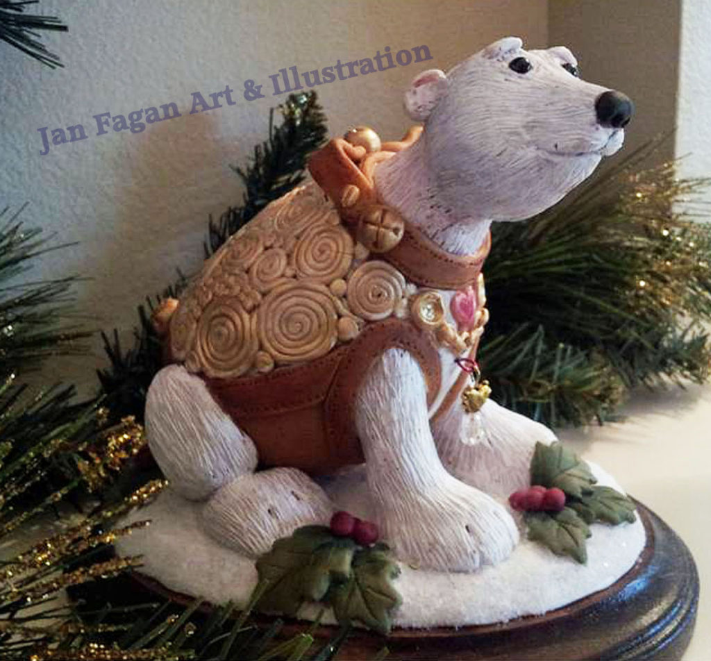 xmas polar bear watermarked