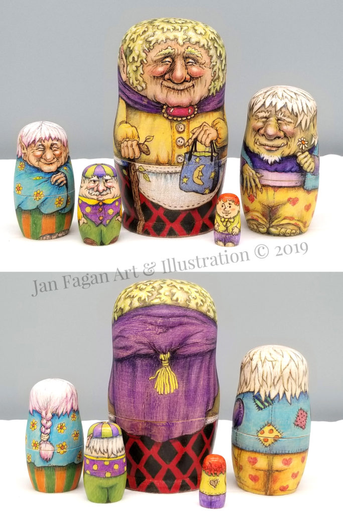 Matryoshka Dolls Created With Colored Pencil