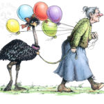 Emu Walker Micron and colored pencil